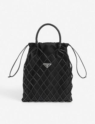 Prada Drawstring nylon top-handle bag
