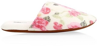 Minnie Rose Floral Cashmere Slippers
