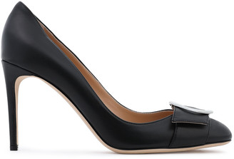 Sergio Rossi Madame Buckle-embellished Leather Pumps