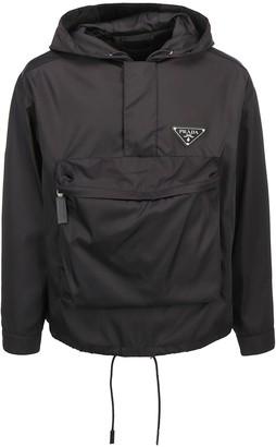Prada Front Pocketed Logo Windbreaker Jacket