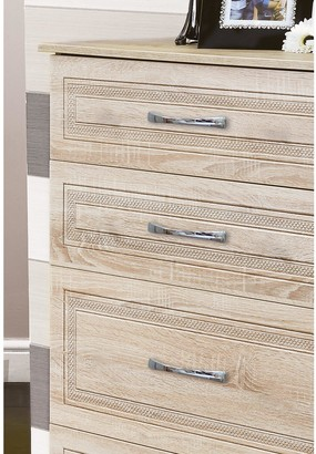 Swift Winchester PartAssembled 4 Piece Package - 3 Door Mirrored Wardrobe, Chest of 5 Drawers and 2 Bedside Chests