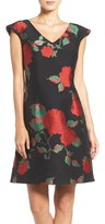 Julia Jordan Floral Jacquard Fit & Flare Dress