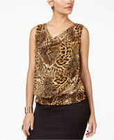 Thalia Sodi Animal-Print Cowl-Neck Top, Created for Macy's