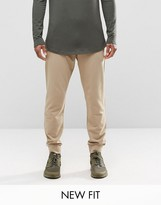 Asos Standard Joggers In Stone