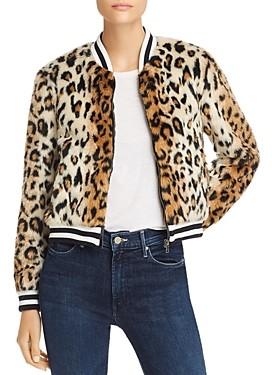 BB Dakota Leopard Print Faux Fur Jacket