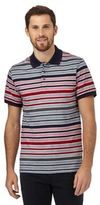 Maine New England Red Striped Print Polo Shirt