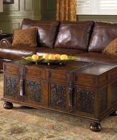 Signature Design by Ashley Dark Brown McKenna Coffee Table with Storage