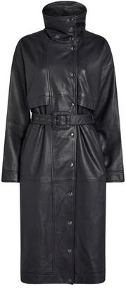 Gestuz Ester Leather Trench Coat