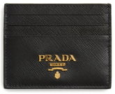 Prada Saffiano Metal Oro Leather Card Case