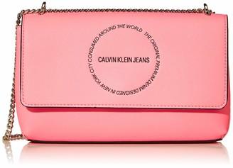 Calvin Klein Women's Sculpted Convertible Ew Flap Cross-Body Bag Red (Racing Red) 0.1x0.1x0.1 cm (W x H x L)