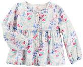 Osh Kosh Toddler Girl Butterfly & Flower Empire Waist Button-Down Shirt
