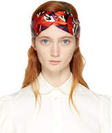 Gucci Orange and Purple GG Cube Headband