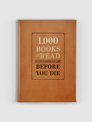 Graphic Image 1000 Books to Read Genuine Leather