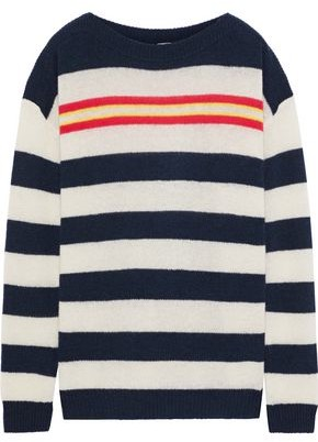 Autumn Cashmere Striped Ribbed Cashmere Sweater