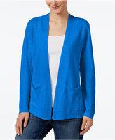 Eileen Fisher Organic Linen Open-Front Cardigan