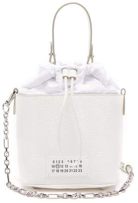 Maison Margiela 5ac Grained-leather Bucket Bag - Womens - White