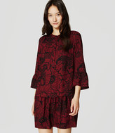 LOFT Tall Paisley Lantern Shirtdress