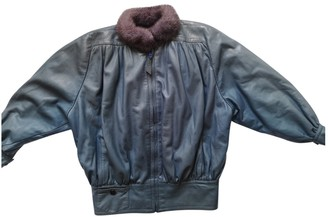 Christian Dior Blue Fur Jacket for Women Vintage