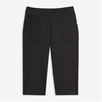 Joe Fresh Women's Wide Leg Ponte Pants, Black (Size 3X)
