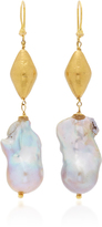 Ranjana Khan Large Dangle Pearl Earrings