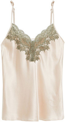 Ginia Lace-trimmed Silk-satin Camisole