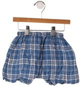 Makie Boys' Linen Plaid Shorts