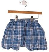 Makie Boys' Linen Plaid Shorts