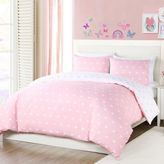 Lala + Bash Kelly Hearts Reversible Comforter Set in Pink