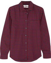 Madewell Shrunken Ex-boyfriend Checked Cotton Shirt - Burgundy