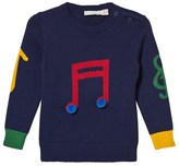 Stella McCartney Blue Musical Note Jumper