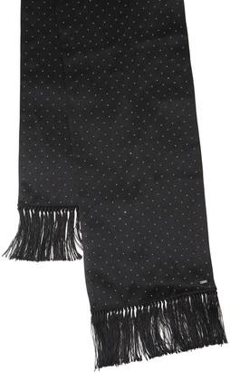Saint Laurent Studded Silk Satin Smoking Scarf