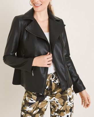 Chico's Faux-Leather Moto Jacket