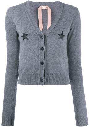 No.21 star print knitted cardigan