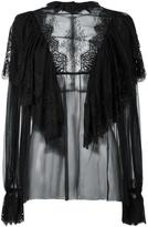 Dolce & Gabbana ruffled lace blouse - women - Silk/Cotton/Nylon/Viscose - 40