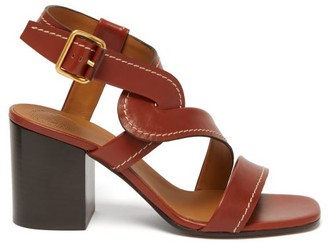 Chloé Candice Block-heel Leather Sandals - Womens - Tan