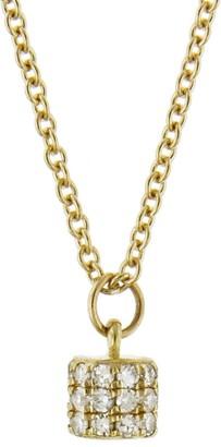 Lee Jones Diamond Fairy Dust Yellow Gold Choker Necklace