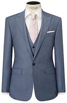 John Lewis Woven In Italy Sharkskin Half Canvas Tailored Suit Jacket, Ice Blue