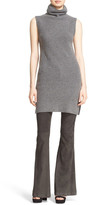 Alice + Olivia &Fay& Side Slit Ribbed Wool & Cashmere Turtleneck Tunic