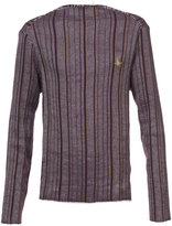 Vivienne Westwood Man striped knitted top