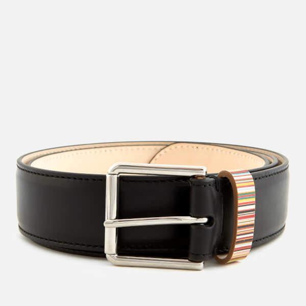 Paul Smith Men's Multistripe Keeper Belt - Black