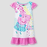 Peppa Pig Toddler Girls' Chasing Rainbows Nightgown - Pink