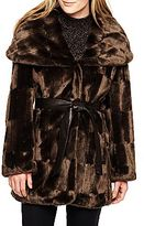 JCPenney Worthington® Hooded Wrap Faux Fur Coat