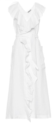 Three Graces London Exclusive to Mytheresa a Mabel linen midi dress