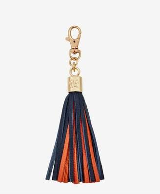 GiGi New York Tassel Bag Charm In Navy And Orange