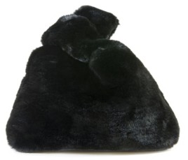 Area Stars Faux Fur Bag with Double Top Handles