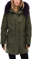 SAM. Double Downtown Fur Trim Down Jacket - 100% Exclusive