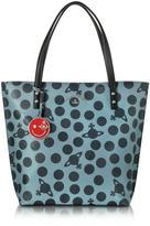 Vivienne Westwood Dotmania Leather Tote Bag