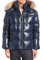 SAM. Coyote Fur-Trimmed Quilted Down Jacket