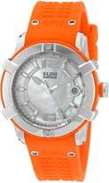 Elini Barokas Women's 'Spirit' Swiss Quartz Stainless Steel and Silicone Automatic Watch, Orange (Model: 20005-02-OS)