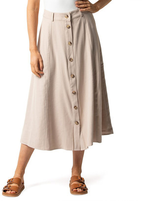 Forever New Blair Button Front Midi Skirt